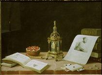 S.Stosskopf, Fuenf Sinne mit Tischuhr von AKG  Images