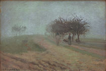 C.Pissarro, Nebliger Morgen in Creil by AKG  Images