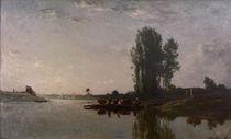 C.F.Daubigny, Die Faehre bei Bonnieres von AKG  Images