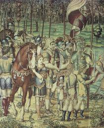 Scipio und Hannibal / Bildteppich 1550 by AKG  Images