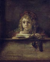 Rembrandt, Titus am Schreibpult by AKG  Images