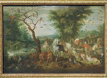 J.Brueghel d.Ae., Paradieslandsch.m.Arche von AKG  Images