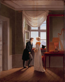 G.F.Kersting, Paar am Fenster / 1817 by AKG  Images