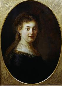 Rembrandt, Saskia mit Schleier by AKG  Images