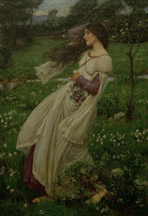 J.W.Waterhouse, Windflowers / Gem., 1902 by AKG  Images