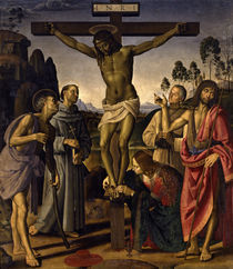 Signorelli u.Perugino, Christus am Kreuz by AKG  Images