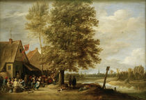 David Teniers d.J., Wirtshaus am Fluss by AKG  Images