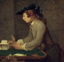 J.B.S.Chardin, Der Kartenhausbauer by AKG  Images