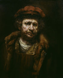 Rembrandt, Selbstbildnis mit roter Muetze by AKG  Images