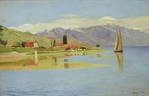 F.Vallotton, Der Hafen von Pully von AKG  Images