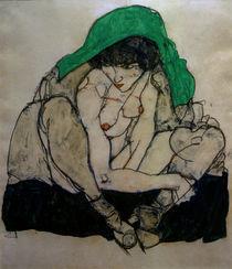 E.Schiele, Kauernde mit Kopftuch von AKG  Images