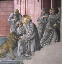 B.Gozzoli, Hieronymus und der Loewe by AKG  Images
