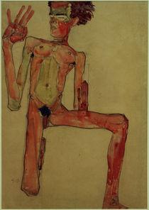 Egon Schiele, Kniender Selbstakt 1910 von AKG  Images