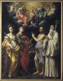 G.Reni, Kroenung Mariae mit vier Heiligen by AKG  Images