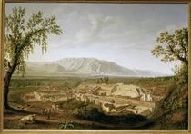 Pompeji, Ausgrabungen / Gem.v.Hackert by AKG  Images