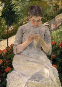 M.Cassatt, Junges Maedchen im Garten von AKG  Images
