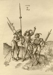 Duerer, 'Kriegsleute', Zeichnung, 1489. by AKG  Images
