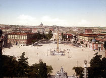 Rom, Piazza del Popolo / Photochrom von AKG  Images