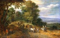 Jan Brueghel d.Ae., Belebter Fahrweg by AKG  Images
