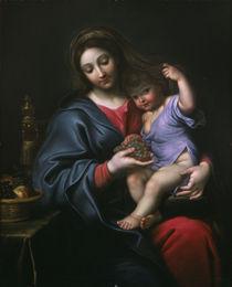 Pierre Mignard, Madonna mit den Trauben by AKG  Images