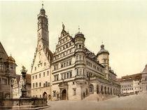 Rothenburg, Rathaus / Photochrom von AKG  Images