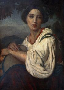 A.Feuerbach, Frau mit Tamburin by AKG  Images