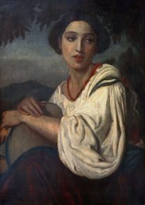 A.Feuerbach, Frau mit Tamburin von AKG  Images