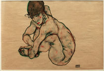 Egon Schiele, Kauernder Maedchenakt by AKG  Images