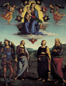 Perugino, Madonna in der Glorie by AKG  Images