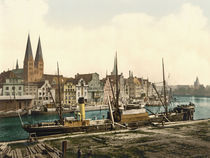 Luebeck, Trave und Altstadt / Photochrom by AKG  Images