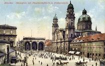 Muenchen, Odeonsplatz mit Theatinerkirche by AKG  Images