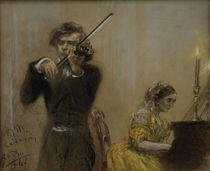 Clara Schumann u.Joseph Joachim /Menzel von AKG  Images