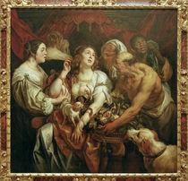 Tod der Kleopatra / Jordaens von AKG  Images
