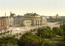 Wien, Burgtheater / Photochrom by AKG  Images