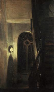 A.von Menzel, Treppenflur bei Nachtbel. by AKG  Images