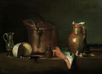 J.B.S.Chardin, Stillleben mit Kupfertopf von AKG  Images
