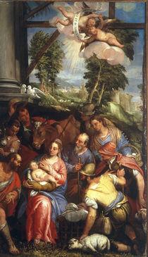 Veronese Familie, Anbetung der Hirten von AKG  Images