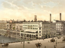 Hamburg, Alsterarkaden / Photochrom by AKG  Images