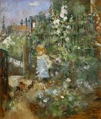 B. Morisot, Kind zwischen Stockrosen by AKG  Images