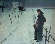 Fritz von Uhde, Winterlandschaft von AKG  Images