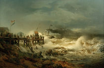 Andreas Achenbach,Abfahrt eines Dampfers by AKG  Images