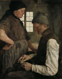 W.Leibl, Der Spargroschen  / 1877 by AKG  Images