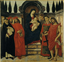 Botticelli Werkstatt, Madonna m.Heiligen by AKG  Images