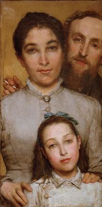 Jules Dalou mit Frau u.Tochter / Alma T. von AKG  Images