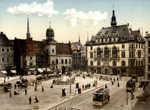 Halle, Marktplatz / Photochrom um 1900 by AKG  Images