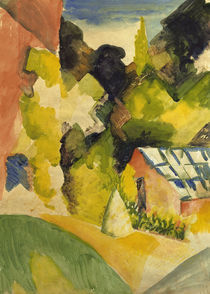 August Macke, Gewaechshaus im Park by AKG  Images