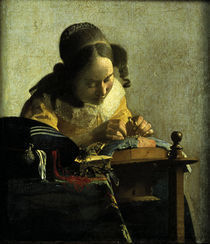 Vermeer / Spitzenkloepplerin by AKG  Images