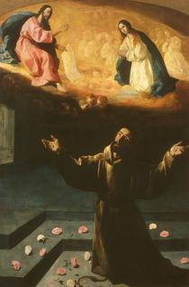 Zurbaran, Franziskus in Portiuncula by AKG  Images