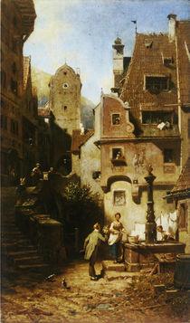 Spitzweg, Der ewige Hochzeiter/ um 1850 by AKG  Images