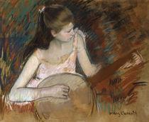 M.Cassatt, Maedchen mit Banjo von AKG  Images